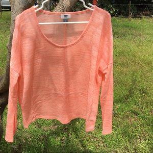 Old Navy Peach Light Weight Sweater